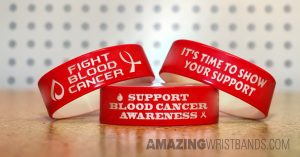 Custom Blood Cancer Awareness Bands