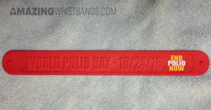Custom Red Slap Bands
