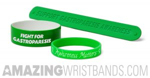Gastroparesis awareness wristbands