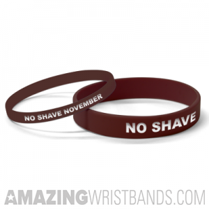 No Shave November Wristbands