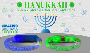 Hanukkah LED Wristbands