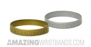 Deaf-Blind Awareness Wristbands