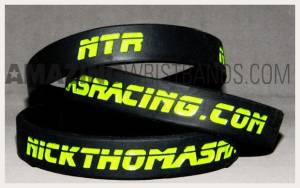 Custom Black Nuclear Green Bracelets