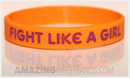 Glitter Bands With Fight Like A Girl Message
