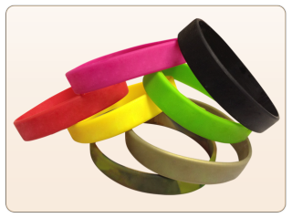 Colorful Plain Wristbands