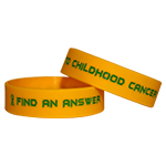 Custom Ink-Filled Childhood Cancer Bracelets