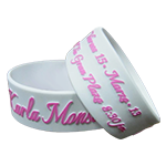 White Pink Colorized Emboss Bands