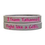 Gray Pink Ink-Filled Awareness Bands