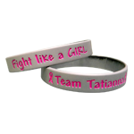 Personalized Grey Pink Wristbands