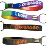 Hope-Courage Silicone Keychains