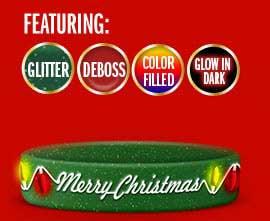 1/2 Inch Christmas Wristband