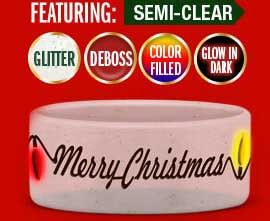1 Inch Extra-Wide Christmas Wristband