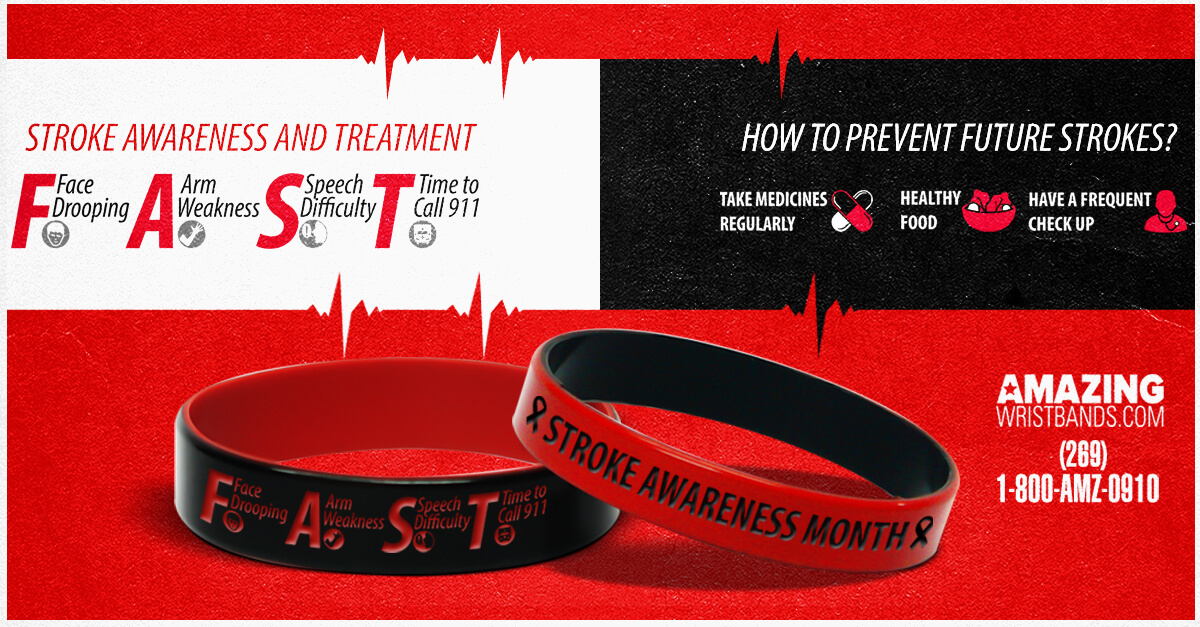 Wristbands For Stroke Awareness Campaign