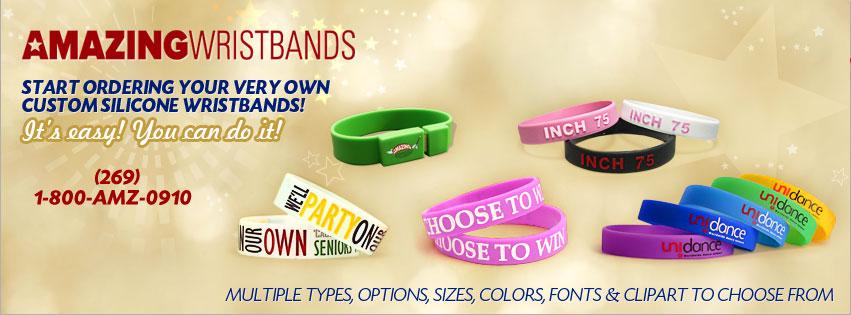 5a21b24aa8dc5 Custom Silicone Wristbands & Rubber Bracelets   Amazing Wristbands