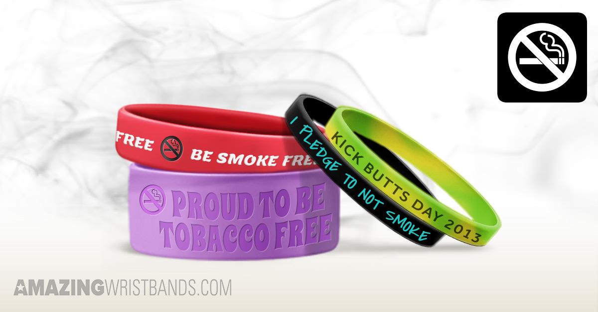 Custom Made Great American Smokeout Wristbands