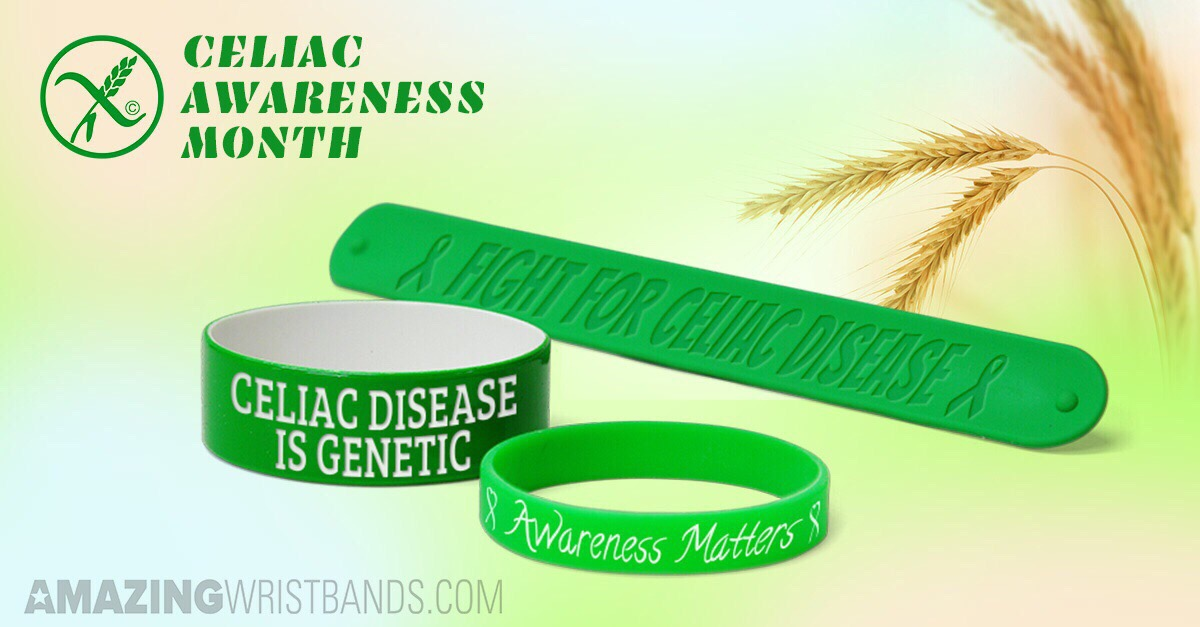Celiac Disease Awareness Wristbands