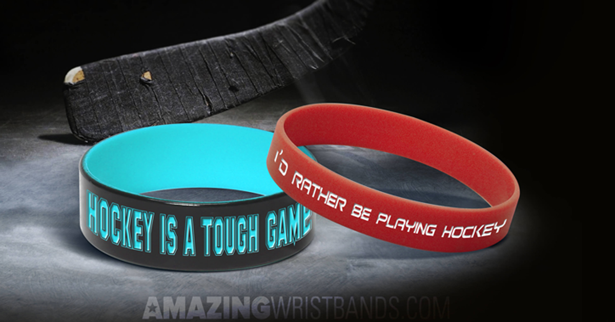 Hockey Wristbands Stylish Sports Bracelets