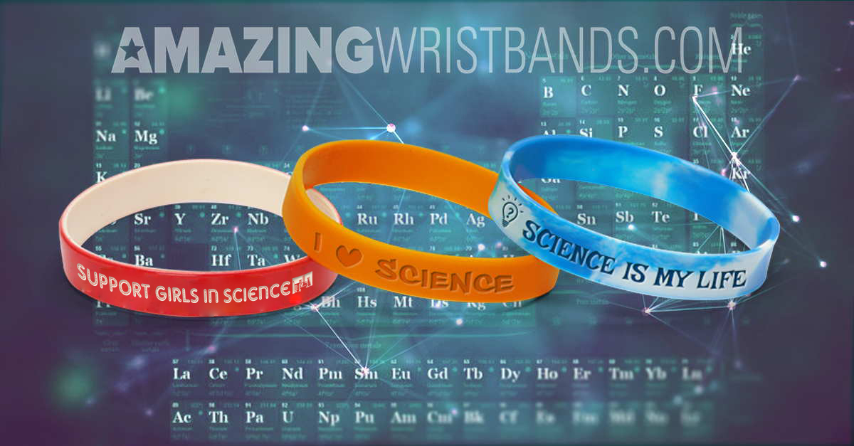 I Love Science Wristbands