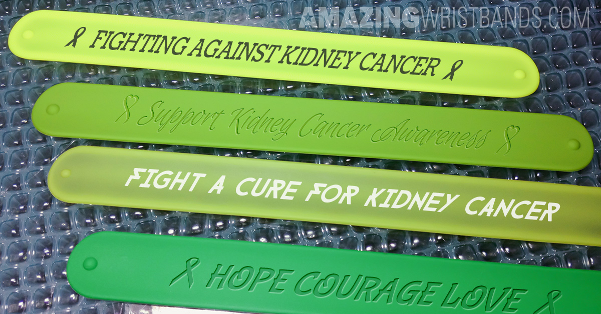 Fight For Kidney Cancer Awareness With Custom Green Wristbands