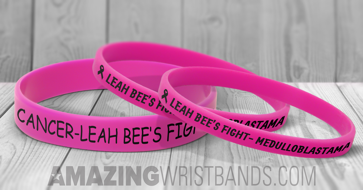 Custom Medulloblastoma Awareness Wristbands