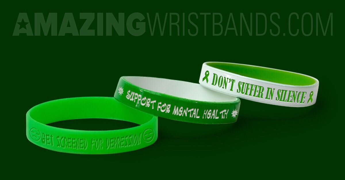Support Mental Health Awareness Campaign With Green Wristbands