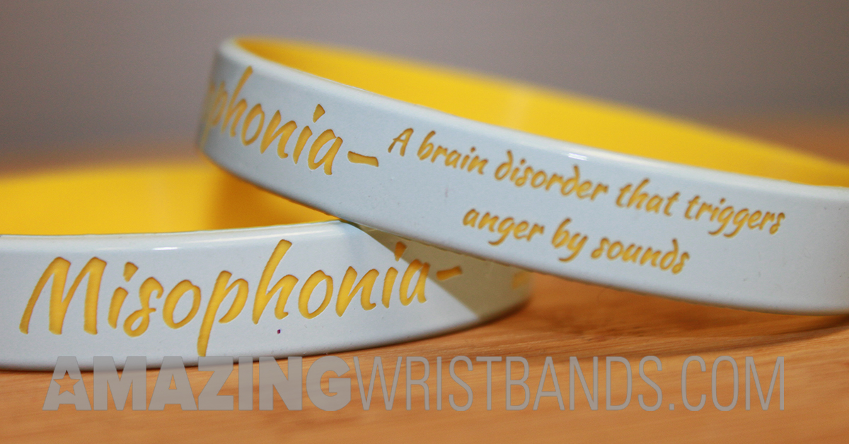 Custom Designed Misophonia Wristbands For Awareness