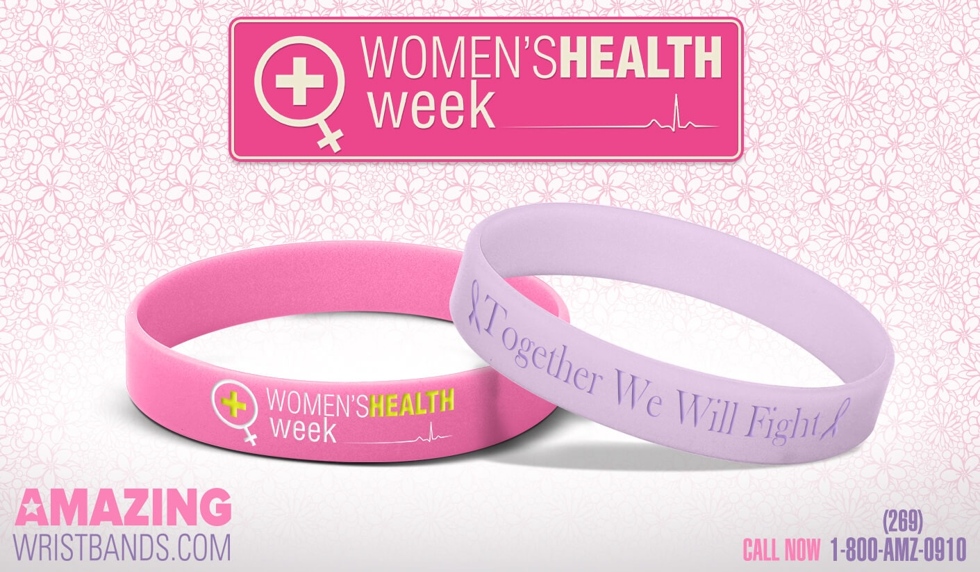 Women's Health Week Wristbands